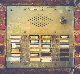 Retro Grungy Apartment Buzzer System