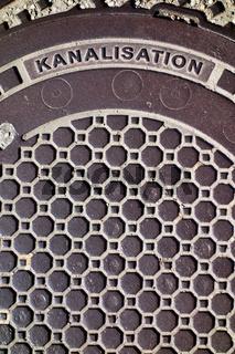 Deckel einer Kanalisation