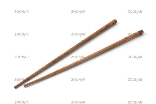 Pair of wooden chopsticks