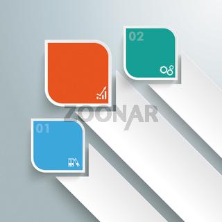 Round Colored Quadrates Bevel Stakes PiAd