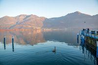 Awesome Iseo lake panorama