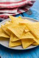 Salted tortilla chips.