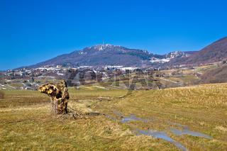 Kalnik mountain nature winter view