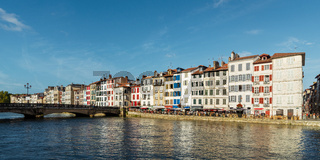 Bayonne and the Nive river in France