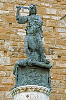The statue of Judith and Holofernes, Florence