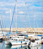 Seascape  yachts  marina  pier  Cyprus