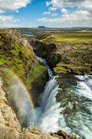 Huldufoss waterfall, Iceland