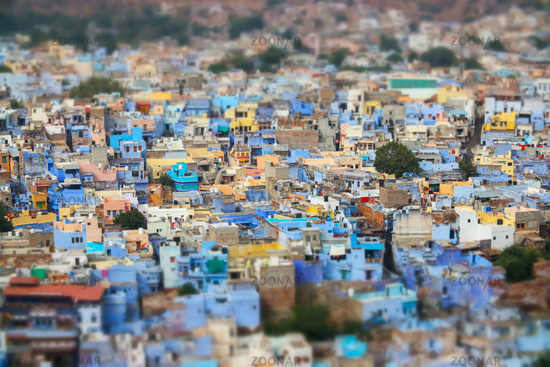 Tilt shift lens - Jodhpur ( Also blue city) is the second-largest city in the Indian state of Rajasthan and officially the second metropolitan city of the state.