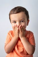 Cute three year old boy portrait