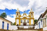 Historic church in the city of Tiradentes built in the 18th century