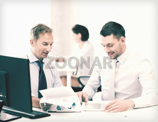 businessmen with notebook and tablet pc