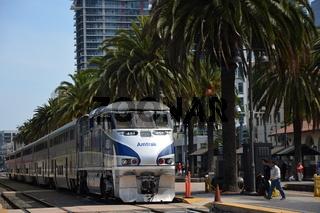 Zug in der Downtown von San Diego, Kalifornien