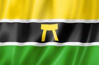 Ashanti people ethnic flag, Africa