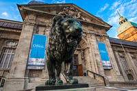 Darmstadt State Museum with a Lion