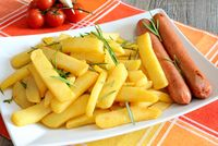 chips and sausages
