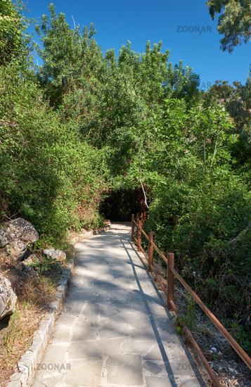Aphrodite nature trail.in the Botanical garden near village of Latchi on Akamas Peninsula.  Cyprus