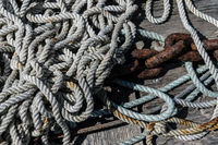 Ropes in the harbour of Stavern, Norway