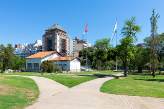 Argentina Cordoba building called governors hall in Las Tejas park