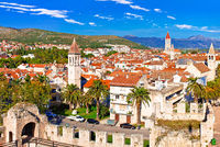 Town of Trogir waterfront and landmarks view