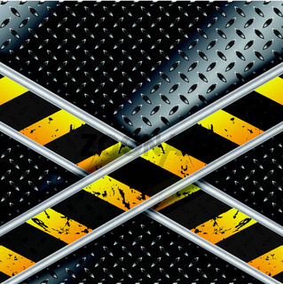 Metallic background with grunge stripes
