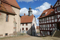 Castle town Schlitz in central Hesse