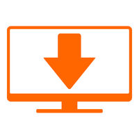 Pfeil nach unten und Monitor - Down arrow and screen