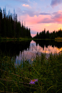 Sunset at the Lake, Rocky Mountain National Park, Colorado