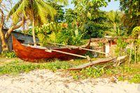 catamaran boat in beach in Nosy Be Madagascar