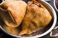 Veg Samosa - is a crispy and spicy Indian triangle shape snack