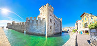 Town of Sirmione entrance walls view