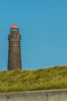 Lighthouse on the Isle of Borkum with blue sky