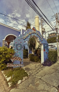 Blue entrance arch