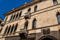 vicenza, italy - 19.03.2019 - old palazzo in the old town