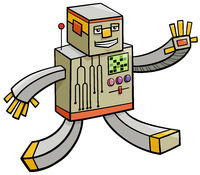 cartoon robot fantasy comic character
