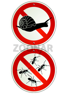 Schnecken und Ameisen verbot.eps