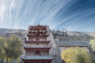 dunhuang mogao grottoes landscape of the nine floors