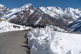 The highway road in Jammu and Kashmir