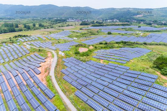 solar power on mountain slope