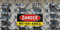 Sign No Go Area, ghettoization, problem district