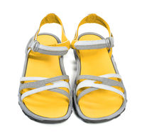 Pair of yellow summer sandals