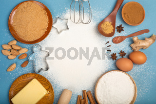 Christmas cookie cooking background