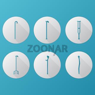 Flat icons for orthopedic equipment