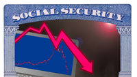 Social security trust fund issues after market crash with laptop