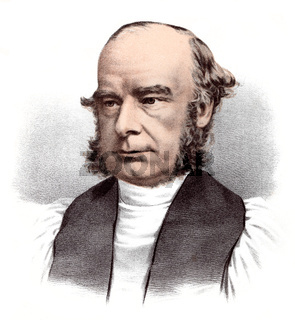 portrait of William Connor Magee, 1821 - 1891, an Irish priest of the Anglican Church, Archbishop of York, Bishop of Peterborough