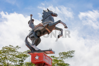 Panama Boquete rodeo man on the roof