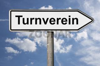 Wegweiser Turnverein   signpost Turnverein (Gymnastics club)
