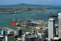 Yachts at Auckland harbour. New Zealand