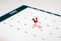 Tax Day reminder for July 15 due to Coronavirus delay on May calendar page