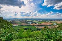 View over the landscape below the Wittekindsburg