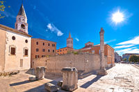 Zadar. Historic Forum square in Zadar landmarks view